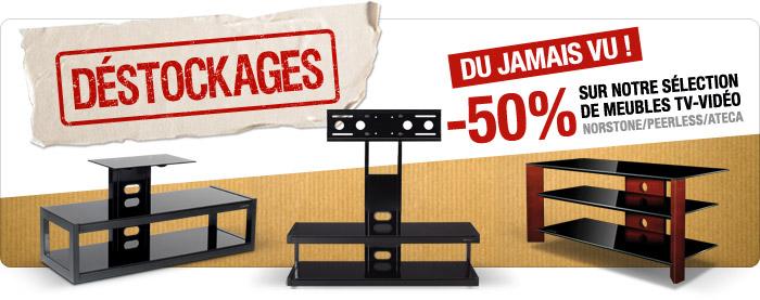 -50% sur les meubles TV-Vidéo