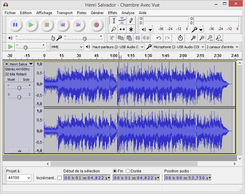 Fichiers audio hd la garantie d un son meilleur le for Chambre avec vue henri salvador