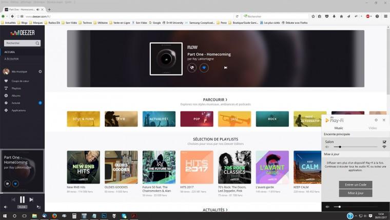L'application Play-Fi pour Windows est accessible depuis le bouton qui donne accès aux icônes cachées, à droite de la barre des tâches.